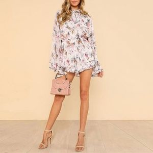 Pants - NEW Floral Romper Shorts Jumpsuit Long Sleeve